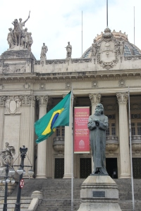 Statue of Tiradentes in front of the old House of Representatives in Rio